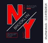 new york  brooklyn typography... | Shutterstock .eps vector #1114582814