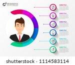 infographic design template.... | Shutterstock .eps vector #1114583114