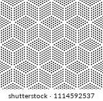 seamless cube optical pattern ...   Shutterstock .eps vector #1114592537