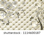 3d isolated flowers background... | Shutterstock . vector #1114600187