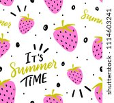 summer seamless pattern with... | Shutterstock .eps vector #1114603241