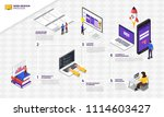 infographic flat design concept ... | Shutterstock .eps vector #1114603427