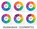 vector infographic circular... | Shutterstock .eps vector #1114604711