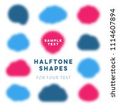 abstract vector halftone shapes ... | Shutterstock .eps vector #1114607894