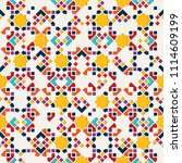 color islamic ornament pattern. ... | Shutterstock .eps vector #1114609199