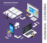 infographic flat design concept ... | Shutterstock .eps vector #1114610861