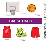 sports uniform and equipment... | Shutterstock .eps vector #1114618319