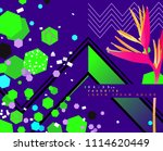 1980 polygon and triangle... | Shutterstock .eps vector #1114620449