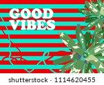 exotic neoregelia and 1980... | Shutterstock .eps vector #1114620455