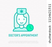 doctor's appointment thin line... | Shutterstock .eps vector #1114621511