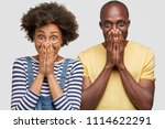 two companions laugh at good... | Shutterstock . vector #1114622291