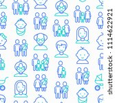 family seamless pattern with... | Shutterstock .eps vector #1114622921