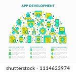 app development concept in half ...