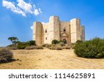 castel del monte  the castle... | Shutterstock . vector #1114625891