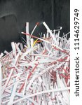 pile of shredded documentary... | Shutterstock . vector #1114629749