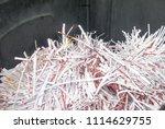 pile of shredded documentary... | Shutterstock . vector #1114629755