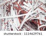 pile of shredded documentary... | Shutterstock . vector #1114629761