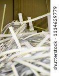 pile of shredded documentary... | Shutterstock . vector #1114629779