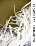 pile of shredded documentary... | Shutterstock . vector #1114629785