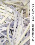 pile of shredded documentary... | Shutterstock . vector #1114629791