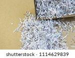 pile of shredded documentary... | Shutterstock . vector #1114629839