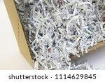 pile of shredded documentary... | Shutterstock . vector #1114629845