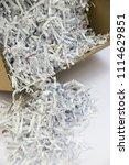 pile of shredded documentary... | Shutterstock . vector #1114629851