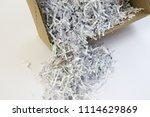 pile of shredded documentary... | Shutterstock . vector #1114629869