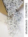 pile of shredded documentary... | Shutterstock . vector #1114629881