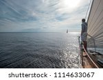 young european man standing at... | Shutterstock . vector #1114633067