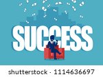 vector of a successful... | Shutterstock .eps vector #1114636697