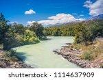 baker river at  carretera... | Shutterstock . vector #1114637909
