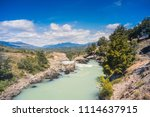 baker river at  carretera... | Shutterstock . vector #1114637915