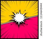 colorful pop art backdrop mock... | Shutterstock .eps vector #1114643444
