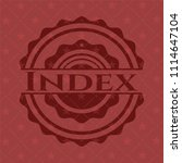index vintage red emblem | Shutterstock .eps vector #1114647104