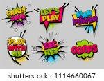 crazy sale oops  man power pop...   Shutterstock .eps vector #1114660067