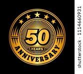50 years anniversary.... | Shutterstock .eps vector #1114660931