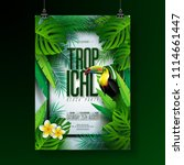 vector summer tropical beach... | Shutterstock .eps vector #1114661447