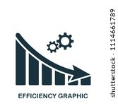 efficiency decrease graphic... | Shutterstock .eps vector #1114661789