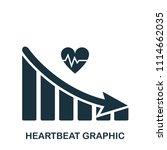 heartbeat decrease graphic icon.... | Shutterstock .eps vector #1114662035