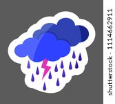weather forecast. clouds of... | Shutterstock .eps vector #1114662911
