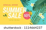 summer sale vector illustration ... | Shutterstock .eps vector #1114664237