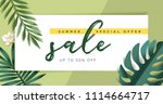 summer sale vector illustration ... | Shutterstock .eps vector #1114664717