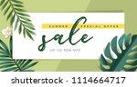summer sale vector illustration ... | Shutterstock .eps vector #1114664717