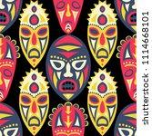 seamless pattern. indian... | Shutterstock .eps vector #1114668101