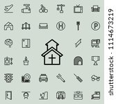 church icon. detailed set of... | Shutterstock .eps vector #1114673219