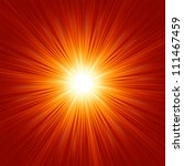 star burst red and yellow fire. ... | Shutterstock .eps vector #111467459