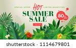 summer sale banner design... | Shutterstock .eps vector #1114679801
