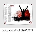 music magazine  brochure layout ... | Shutterstock .eps vector #1114682111