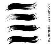 vector set of grunge brush... | Shutterstock .eps vector #1114684004